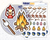 Camping Sampler Icon: Camping Trip Planner Stickers Midnight Snack Planner