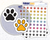 Paw Print Icon: Pet Care Planner Stickers Midnight Snack Planner
