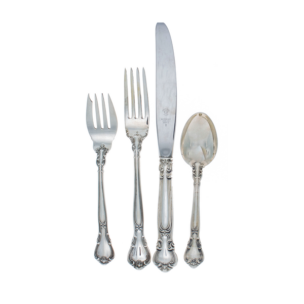 Chantilly Sterling Silver 4 Piece Place Size Setting with Modern Blade Knife