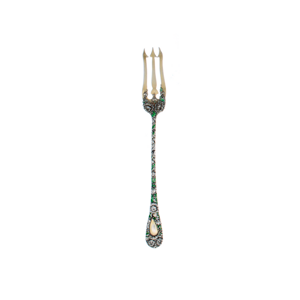 Durgin Chrysanthemum Sterling Silver Pickle Fork