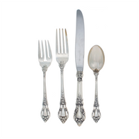 Eloquence Sterling Silver 4 Piece Place Size Setting with Modern Blade Knife