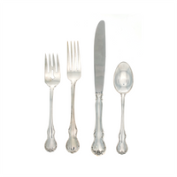 French Provincial Sterling Silver 4 Piece Place Size Setting Modern Blade