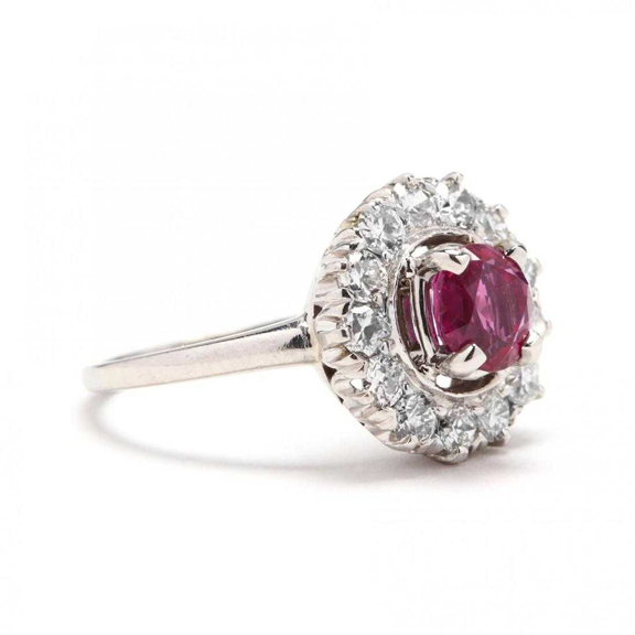 GIA Certified Platinum, 1.46ct Burmese Ruby, and 0.78ct Diamond Ring