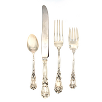 Iris Sterling 4 Piece Dinner Size Setting