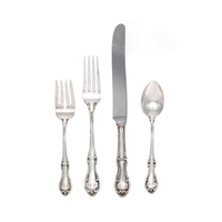 Joan of Arc Sterling Silver 4 Piece Place Size Setting with French Blade