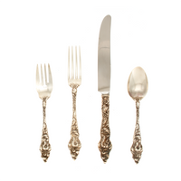 Les Six Fleurs Sterling Silver Place Setting French Blade