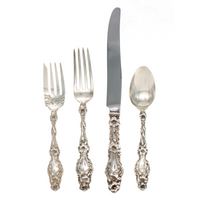 Lily Sterling Silver 4 Piece Luncheon Size Setting with French Blade Knife