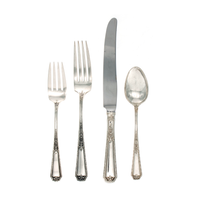 Louis XIV Sterling Silver 4 Piece Place Size Setting with French Blade Knife