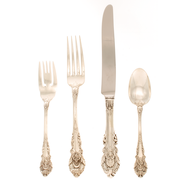 Sir Christopher Sterling Silver 4 Piece Dinner Size Setting French Blade