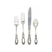 King Richard Sterling Silver 4 Piece Place Size Setting with Modern Blade Knife