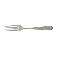 Repousse Sterling Silver Dinner Size Fork