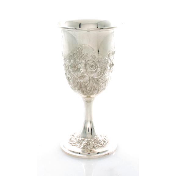 Repousse by Kirk Sterling Goblet