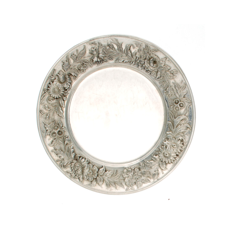 Repousse Sterling Bread and Butter Plate
