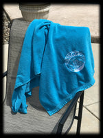 Sanger Boats Turquoise Velour Towel