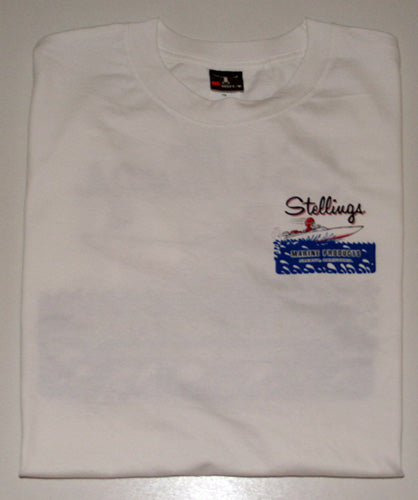 Stellings Logo White T-Shirt
