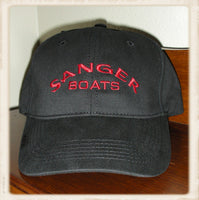 Sanger Boats Structured Black/Red Baseball Cap