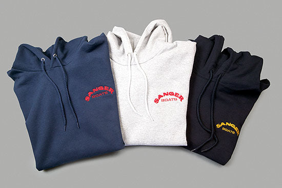 Sanger Hooded Pullover Sweatshirt With Embroidered Logo