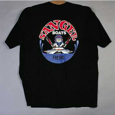 Sanger Boats Black T-Shirt