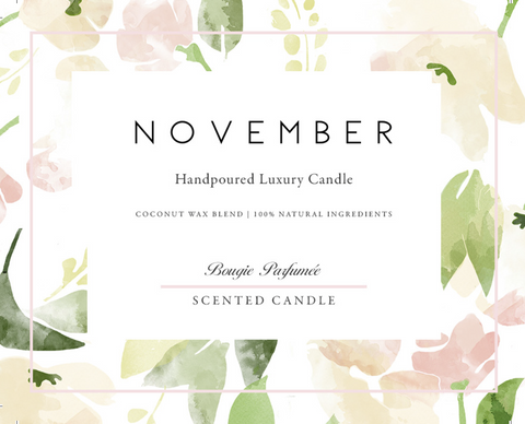November Luxury Candle