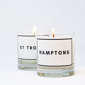 Hamptons scented jar candle