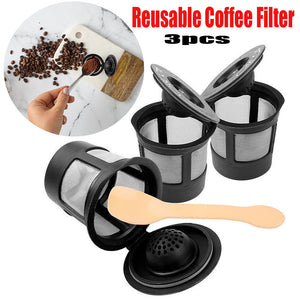 Reusable Coffee Filter Pod with Spoon- 3pcs