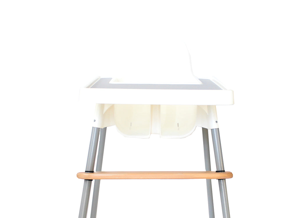 Premium Pinewood Highchair Footrest - Cream Cherry