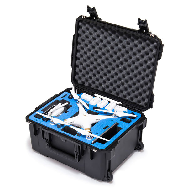 Go Professional - DJI Phantom 3 Plus Hard Case (w/ Wheels)