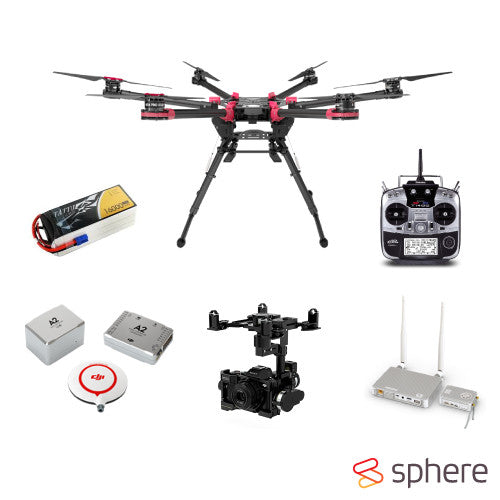 DJI S900 Premium PRO HD Lightbridge Drone Combo (Built and Setup by Sphere)