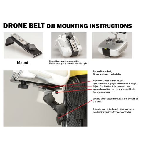 Hoodman Drone Controller Support Belt w/ DJI Mount Kit - Sphere