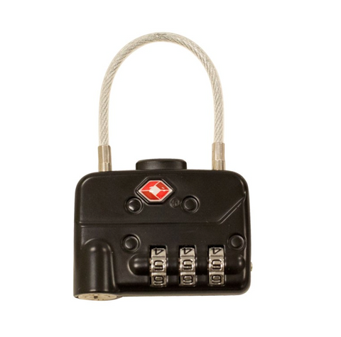 Go Professional - TSA Cable Combination Padlock - Sphere