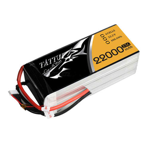 Tattu UAV LiPo Battery 22000mAh 22.2V 25c 6S1P
