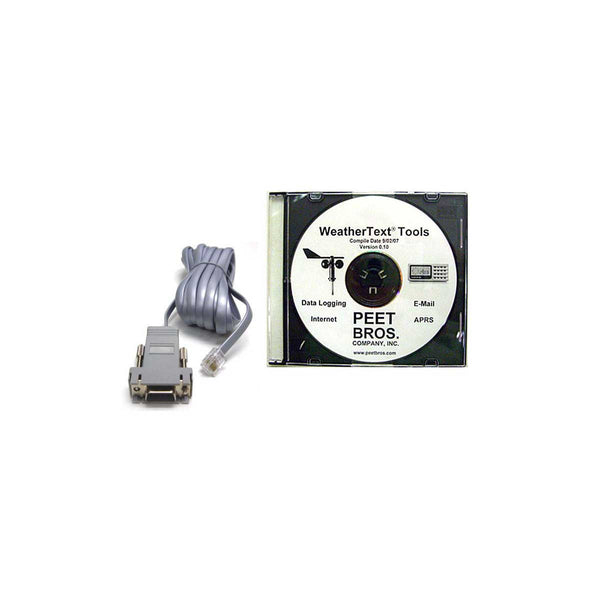 WeatherText Tools w/RS232 Cable for Ultimeter Weather Stations