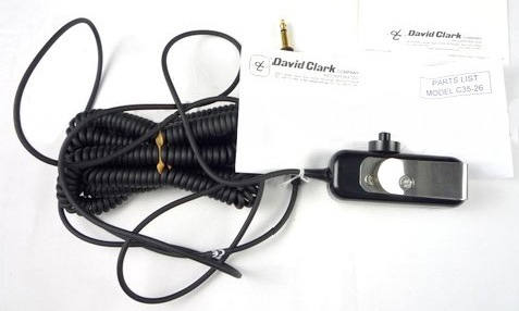 David Clark C35-26 Belt Station w/ 26ft Curly Cable - Sphere