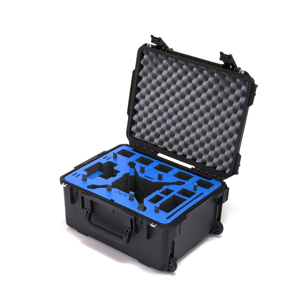 Go Professional - DJI Phantom 4 Pro Compact Wheeled Case  (FITS ALL P4 MODELS) Props on - Sphere