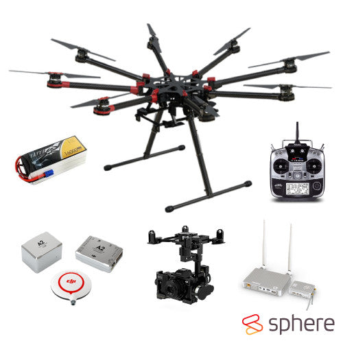 DJI S1000 Premium PRO HD Lightbridge Drone Combo (Built and Setup by Sphere) - Sphere
