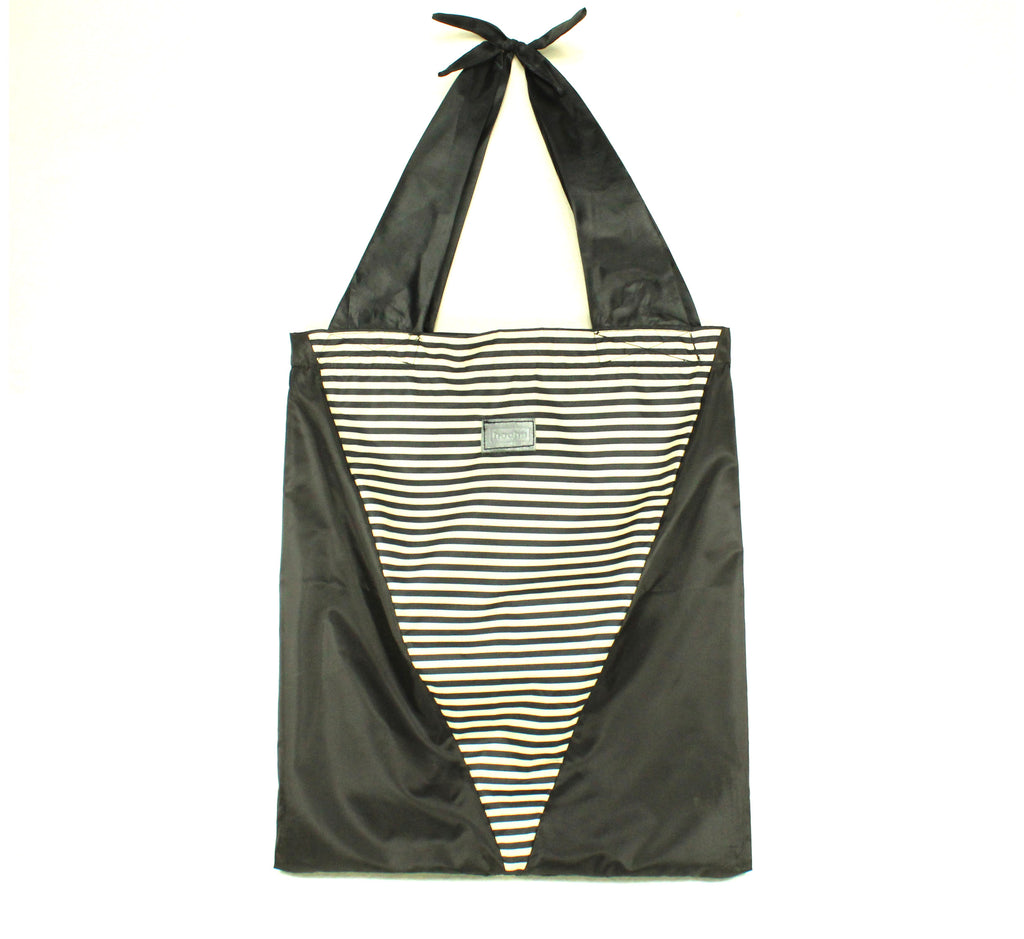 Totebag stripes b/n