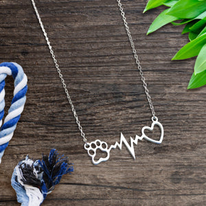 Heartbeat Paw Necklace