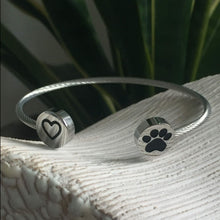 Load image into Gallery viewer, Heart & Paw Cuff Bracelet