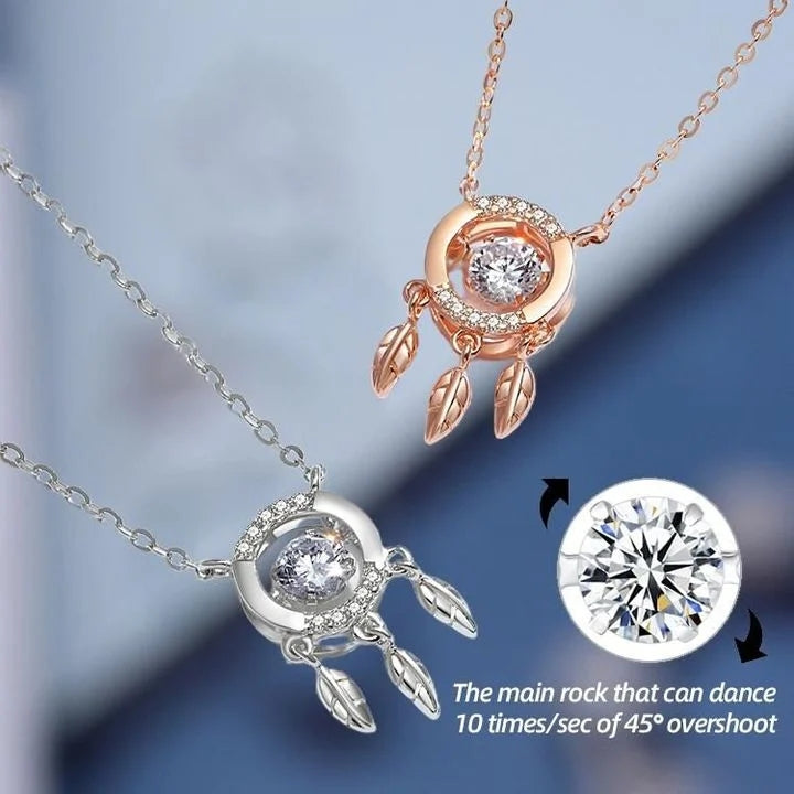 ✨40% OFF ✨-DREAM CATCHER BEATING HEART NECKLACE 925 STERLING SILVER