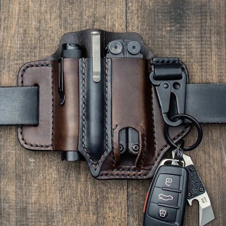 Unique Quality Leather Belt Loop Waist Multitool Sheath