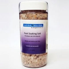 Himalayan Salt Fook Soak with Lavender and Rose