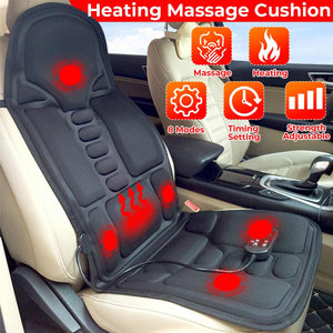 Portable Heated Electric Back Massager Chair Cushion - Dave's Deal Depot