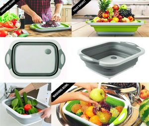 Collapsible Cutting Board Colander - Dave's Deal Depot