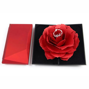 Pop Up Rose Ring Box