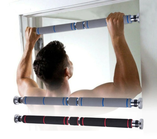 Adjustable Stainless Steel Pull Up Bars - Dave's Deal Depot
