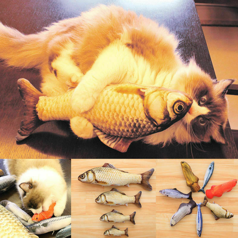 Interactive Catnip Stuffed Fish Toy For Cat - Dave's Deal Depot