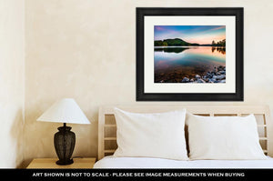 Framed Print, Lake Allatoona At Red Top Mountain State Park North Of Atlanta At Sunrise - Dave's Deal Depot