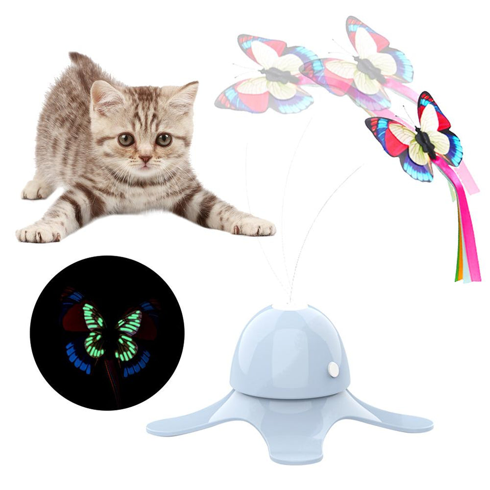 Interactive Fluorescent Butterfly Cat Toy - Dave's Deal Depot