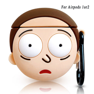 Rick And Morty 3D Airpod Protective Case Cover - Dave's Deal Depot