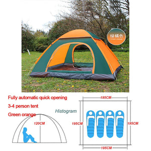 Automatic Pop Up Outdoor Camping Tent 1-4 Person - Dave's Deal Depot